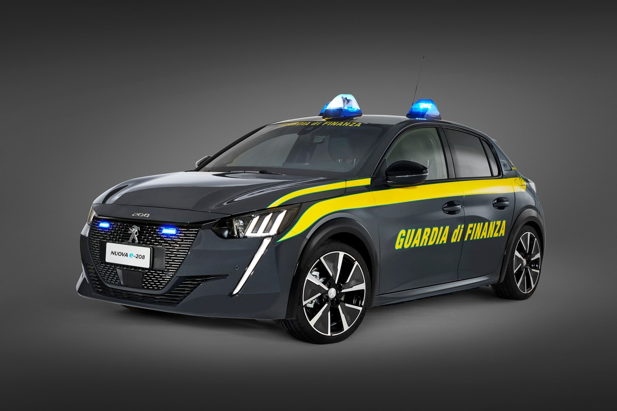 Peugeot e-208, une flotte électrique pour la Guardia di Finanza