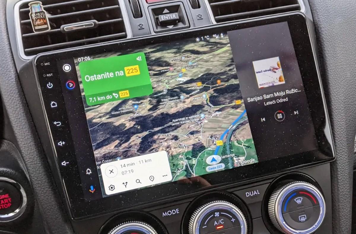 Android Auto le fait en deux, l'écran partagé arrive: premiers rapports et images