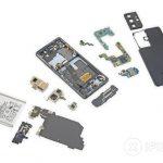 Vue éclatée du Galaxy S21 Ultra, iFixit arrive également: basse qualité, trop de colle