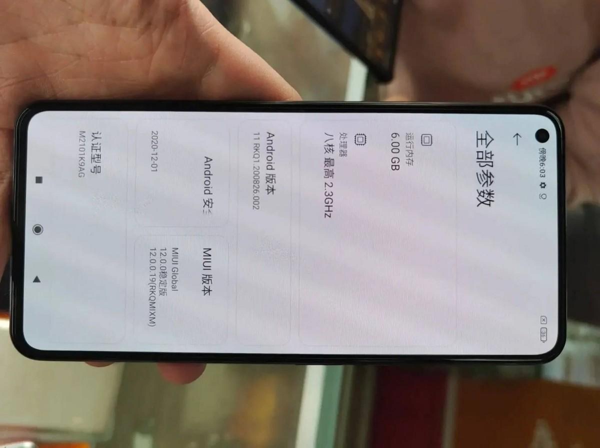 Xiaomi Mi 11 Lite, nouveau rendu et premières spécifications pour Mi Mix 4 |  Rumeur