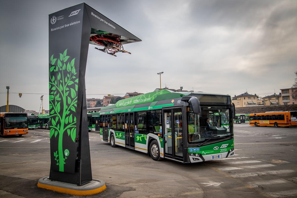 La recharge rapide arrive à Milan pour les bus électriques: voici comment cela fonctionne